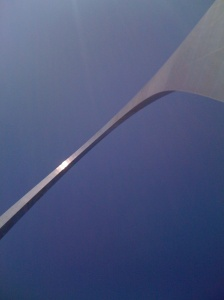 Looking up at Gateway Arch