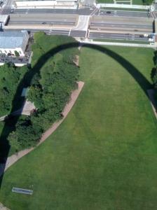 Shadow of Gateway Arch