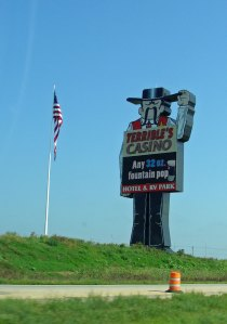 Terrible's casino sign in Iowa