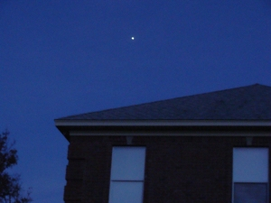 Jupiter over the house