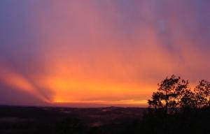 Spectacular sunset between storms