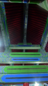 Elaborately painted roof trusses in Xi'an