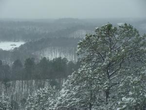 Snowy Ouachita ridges