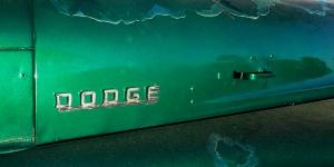 Green Dodge hood