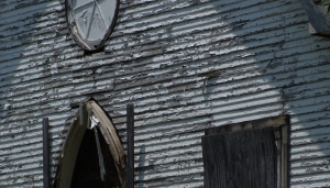 Closeup of church
