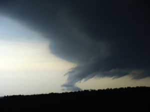 Storm front with scud