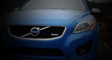 The unique blue of the Polestar edition C30s.