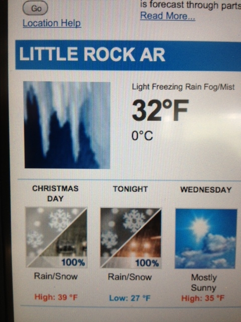 Imagine that! Snow on Christmas in Little Rock!