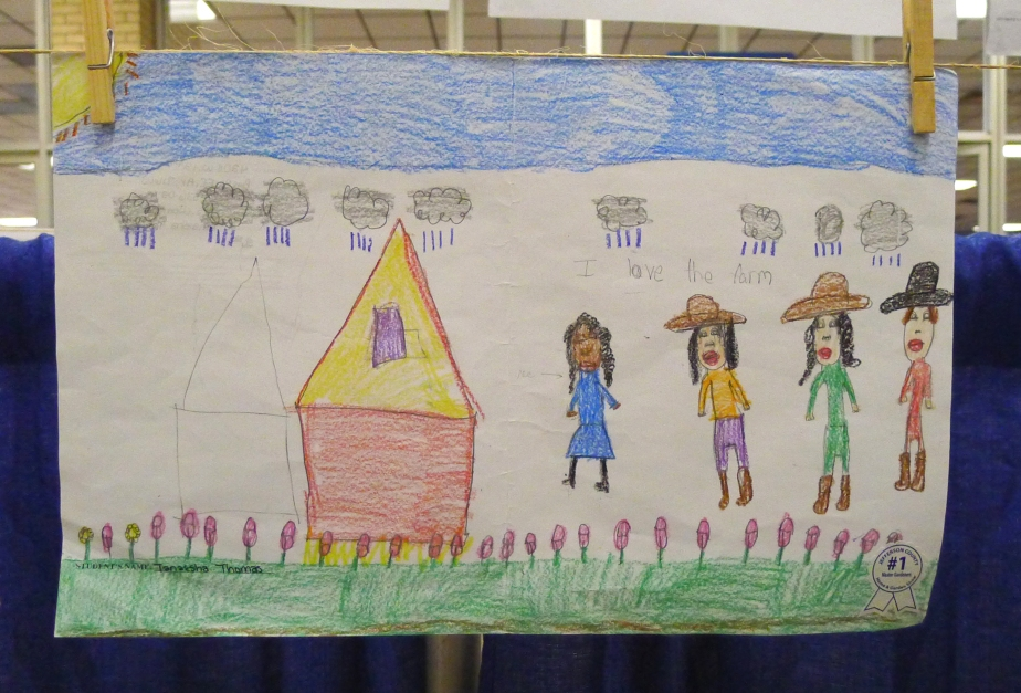 I LOVE THE FARM -- Drawing entered in a youth art contest at the Home and Garden Seminar and Show in Pine Bluff, Ark.