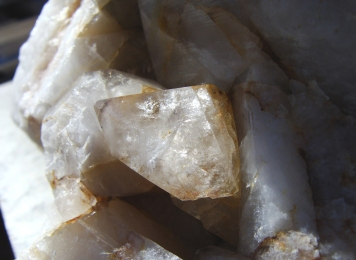 Small crystal in a 15-pound mass of quartzite.