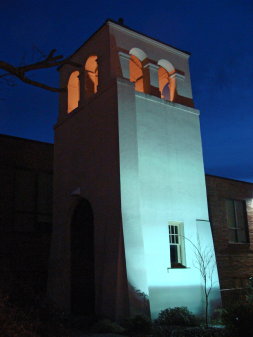 Church tower at Our Lady of the Holy Souls, Little Rock.
