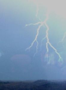 Forked lightning.