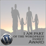 Wordpress family award badge