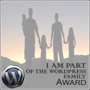 Wordpress family award badge