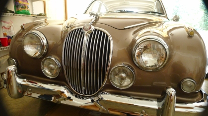 Front of 1963 jag.