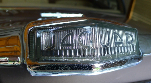 rear fog lamp with Jaguar name on it.