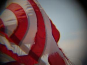 Stripes of American flag.