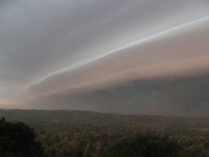 SHELFISH --Shelf cloud sweeps across the Ouachitas ahead of an Oct. 12 cold front.