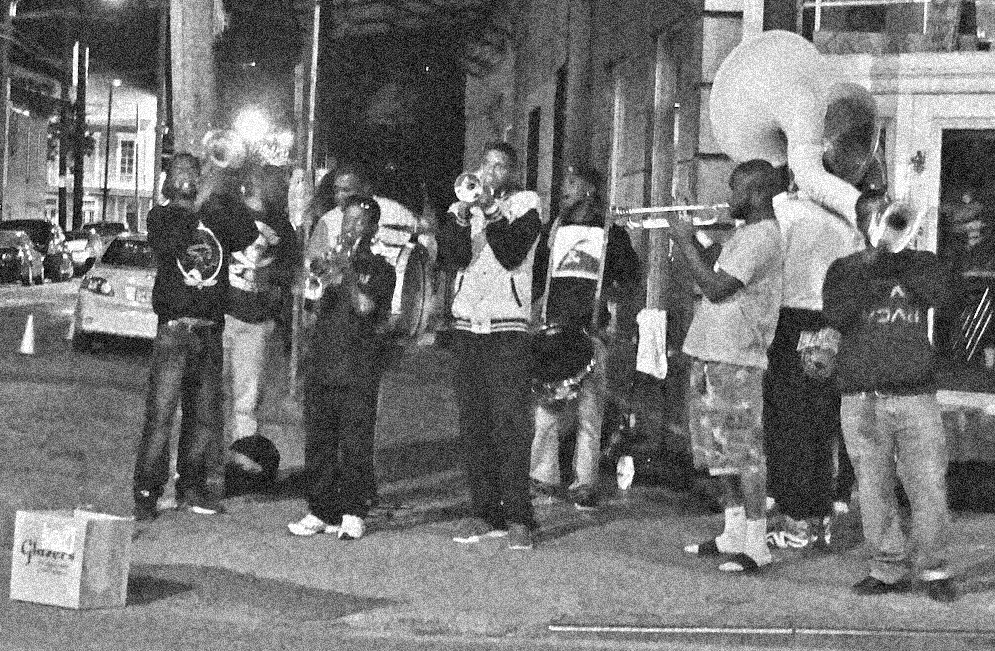 Street corner concert.