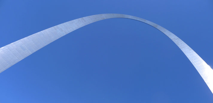 Gateway arch from below.