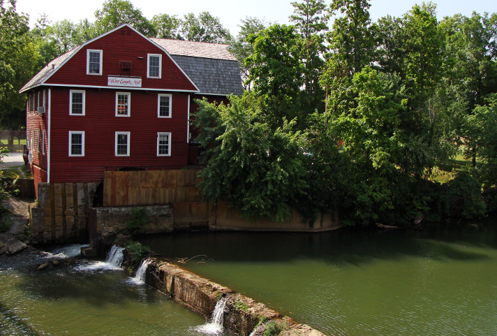 War Eagle Mill by the creek.