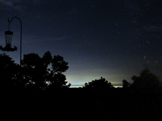 Night time horizon