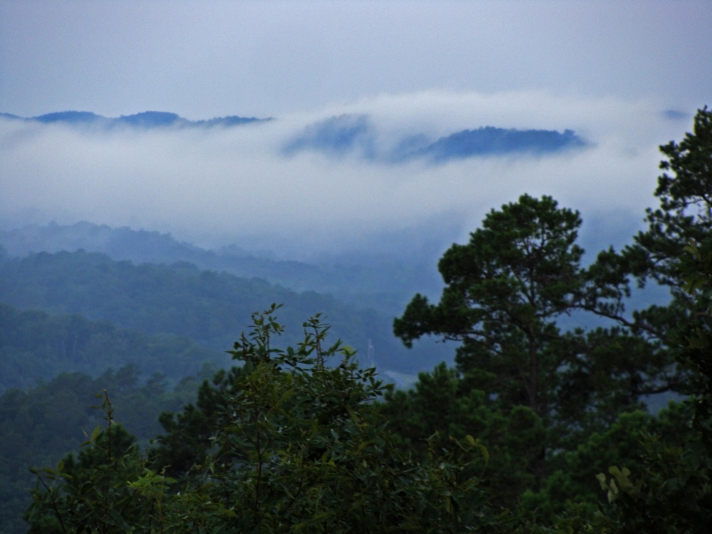 Mist over mountains