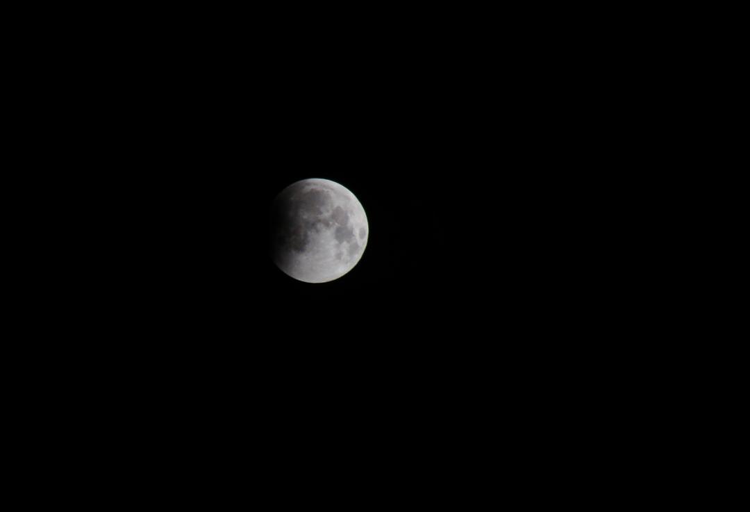 moon entering eclipse
