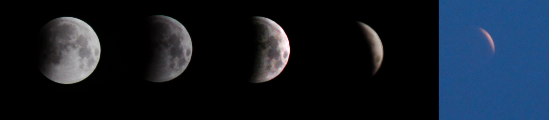 composite of lunar eclipse phases