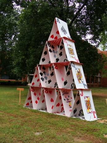 ON THE FLIP SIDE -- Playing cards installation at UALR. Taken Aug. 21, 2015.