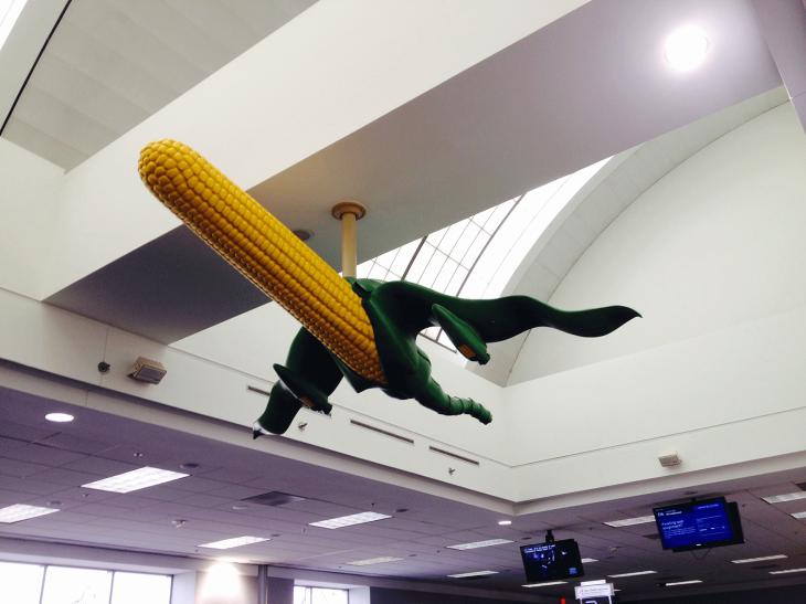 Corn cob transformed into a jet.